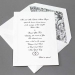 Black & White Wedding Invitation