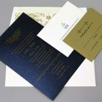 Flecked Paper Wedding Invitation