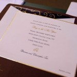 Gold Edged Wedding Invitation