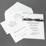 Embossed Wedding Invitation