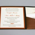 Wedding Invitation with pockets
